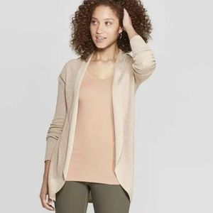 NWT A New Day Essential Cocoon Cardigan Oatmeal XS